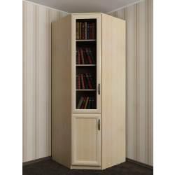 1-дверный угловой шкаф со стеклянными дверцами