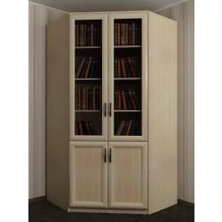 2-дверный книжный угловой шкаф