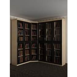 широкий угловой шкаф в зал
