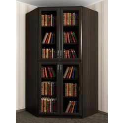 двухстворчатый угловой шкаф под книги