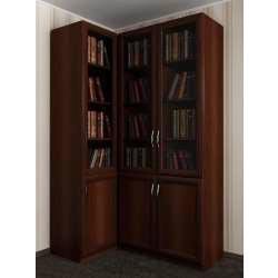 книжный модульный угловой шкаф