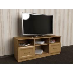 невысокая тумба под телевизор с ящиками