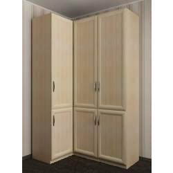 3-дверный модульный шкаф угловой