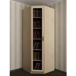 угловой шкаф со стеклом для книг