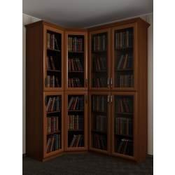 угловой шкаф в зал под книги