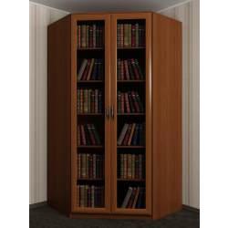 угловой шкаф с распашными дверями в гостиную