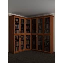 широкий угловой шкаф под книги