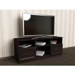 тумба под телевизор цвета темный венге