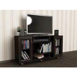 телевизионная тумба цвета темный венге