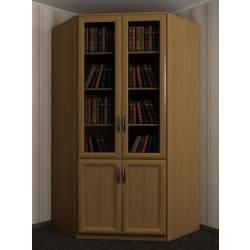 2-дверный угловой шкаф со стеклянными дверцами