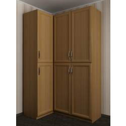 трехстворчатый угловой шкаф в спальню