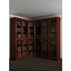 шкаф угловой под книги