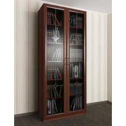 витражный 2-створчатый книжный шкаф