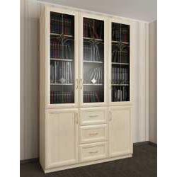 книжный шкаф с витражом