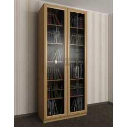 2-створчатый книжный шкаф c витражным стеклом
