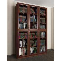 витражный 3-дверный шкаф для книг