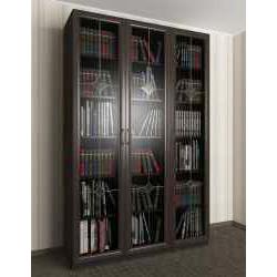 книжный шкаф цвета темный венге