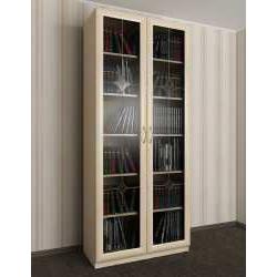 2-створчатый книжный шкаф с витражом