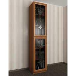 1-дверный книжный шкаф со стеклянными дверями с витражом