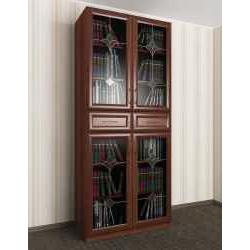 витражный 2-дверный шкаф для книг