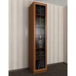 1-створчатый книжный шкаф со стеклом с витражом