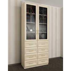 2-створчатый книжный шкаф с ящиками для мелочей