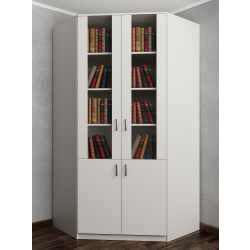угловой шкаф цвета белый