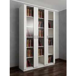 книжный шкаф цвета белый