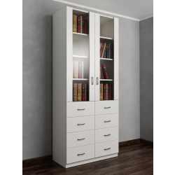 книжный шкаф с ящиками для мелочей