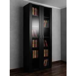 Книжный шкаф шириной 80-90 см черного цвета