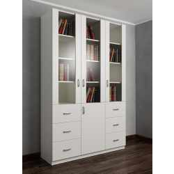 шкаф для книг цвета белый