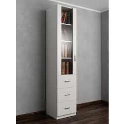 шкаф для книг с выдвижными ящиками