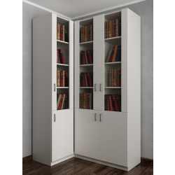 шкаф угловой цвета белый