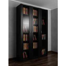 Большой книжный шкаф черного цвета