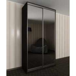 зеркальный 2-створчатый шкаф купе