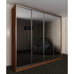 большой шкаф с раздвижными дверями в спальню