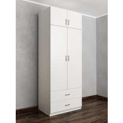распашной шкаф цвета белый