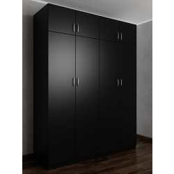 распашной шкаф цвета черный