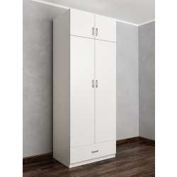 шкаф для одежды и белья цвета белый