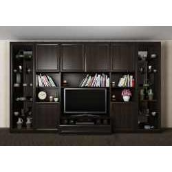 мебельная стенка цвета темный венге