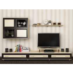 мебельная стенка цвета молочный дуб - венге
