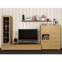мебельная стенка цвета бук