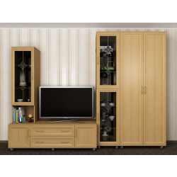 стенка для спальни с вместительным шкафом