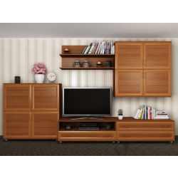 мебельная стенка цвета ольха