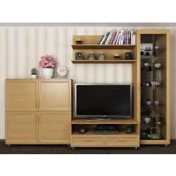 мебельная стенка с витражом