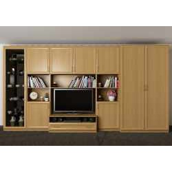 мебельная стенка для спальни с вместительным шкафом