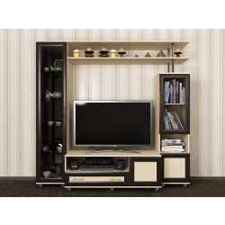 высокая мебельная стенка в кабинет