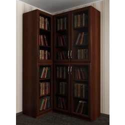 модульный угловой шкаф под книги
