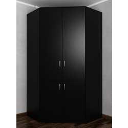Угловой шкаф черного цвета