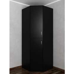 шкаф угловой цвета черный
